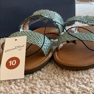 Blue Fringe Sandals - NEVER WORN!
